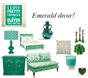 Decorando con verde esmeralda